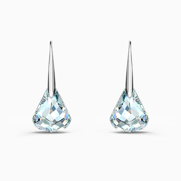 Spirit Pierced Earrings, White, Rhodium plated - Swarovski, 5516533
