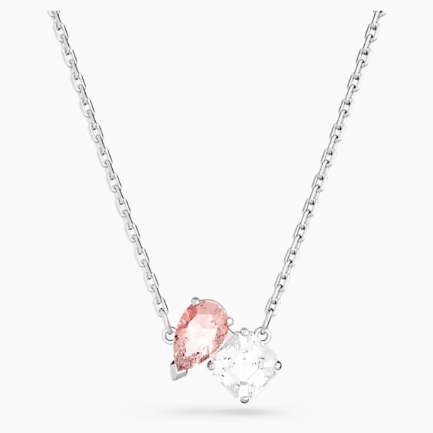 Attract Soul Necklace, Pink, Rhodium plated - Swarovski, 5517115