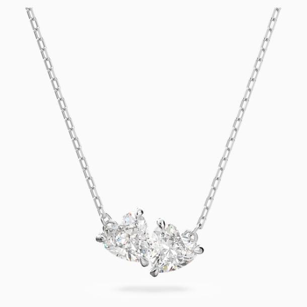 Attract Soul Necklace, White, Rhodium plated - Swarovski, 5517117