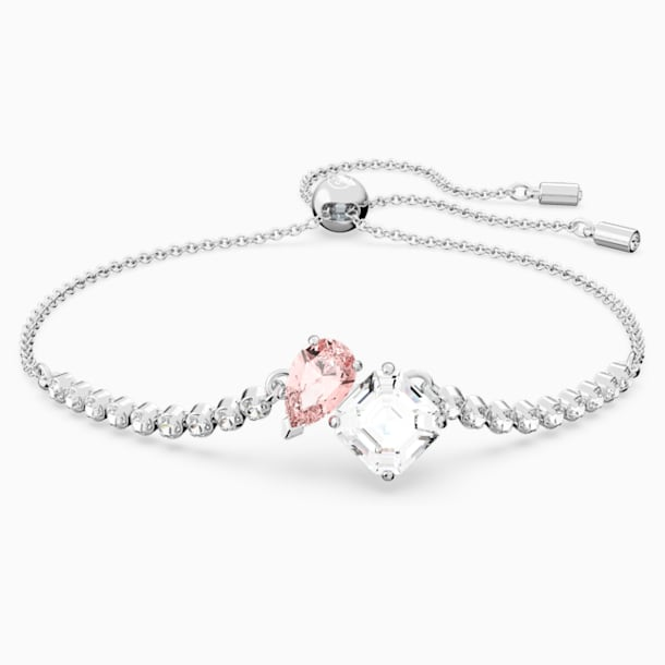 Attract Soul Bracelet, Pink, Rhodium plated - Swarovski, 5517120