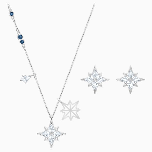 Swarovski Szimbolikus csillag szett, fehér, ródium bevonatú - Swarovski, 5517182