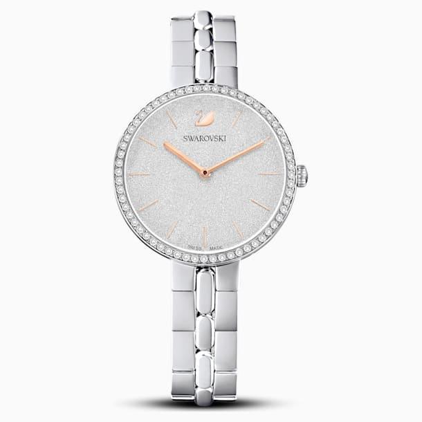 Ρολόι Cosmopolitan, μεταλλικό μπρασελέ, λευκό, ανοξείδωτο ατσάλι - Swarovski, 5517807