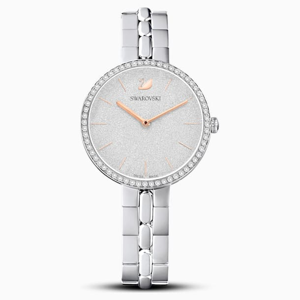 Cosmopolitan Watch, Metal bracelet, White, Stainless steel - Swarovski, 5517807
