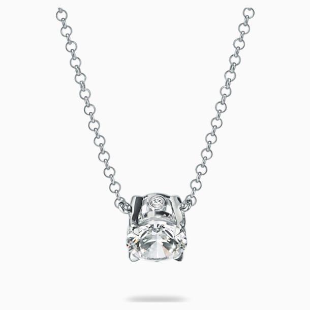 Essentials 1/4 CT Solitaire Pendant, Swarovski Created Diamonds, 18K White Gold - Swarovski, 5517830