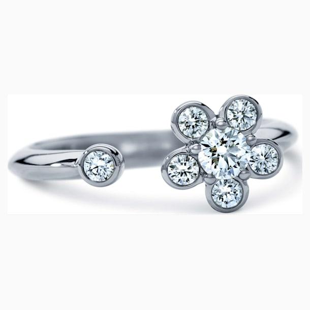 Bloom Ring, Swarovski Created Diamonds 18K White Gold, Size 55 - Swarovski, 5517831