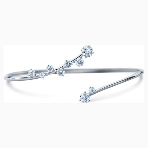 Signature Cuff, Swarovski Created Diamonds, 18K White Gold - Swarovski, 5517835