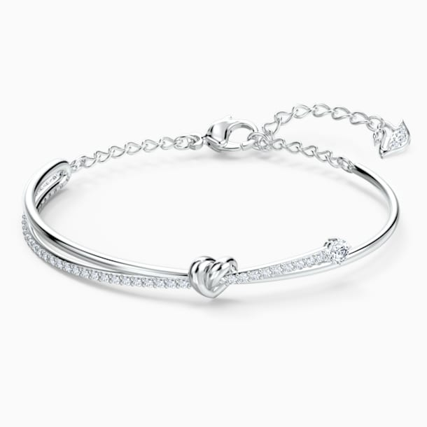 Bracciale rigido Lifelong Heart, bianco, placcato rodio - Swarovski, 5517944