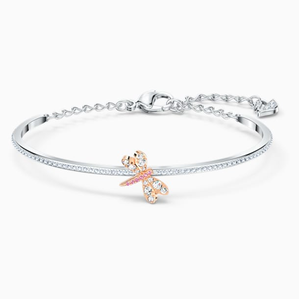 Eternal Flower Bangle, Pink, Mixed metal finish - Swarovski, 5518138