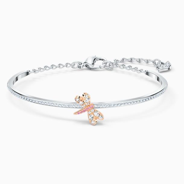 Eternal Flower 뱅글, 핑크, 믹스메탈 피니시 - Swarovski, 5518138