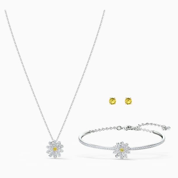 Conjunto Eternal Flower, amarillo, combinación de acabados metálicos - Swarovski, 5518146