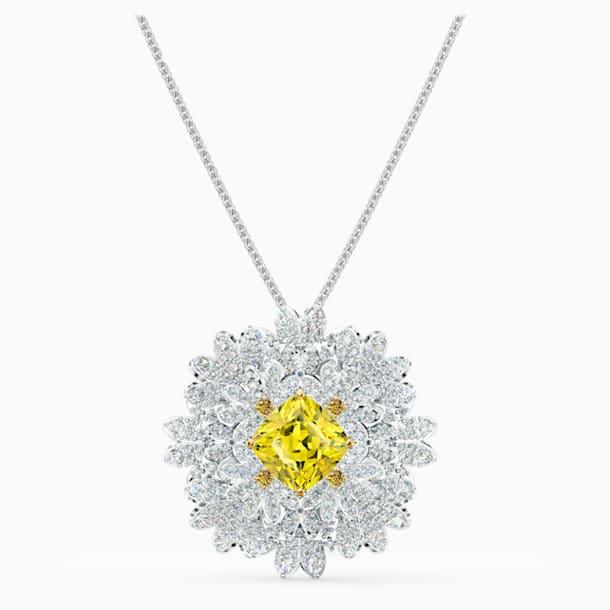 Broszka Eternal Flower, żółta, różnobarwne metale - Swarovski, 5518147