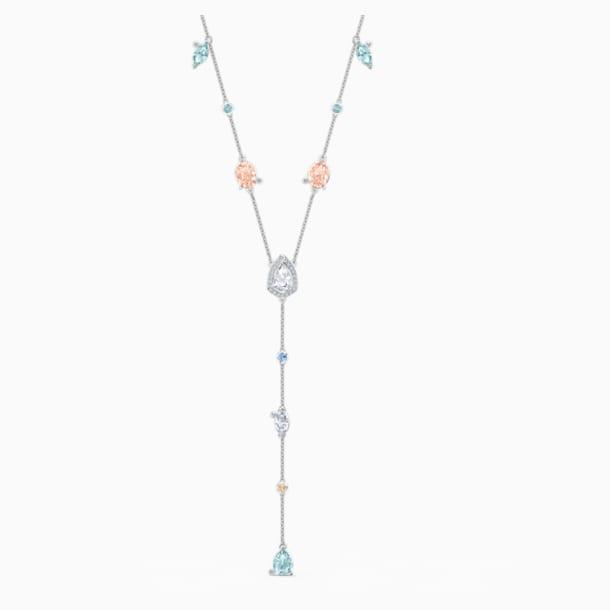 Sunny Y Necklace, Light multi-colored, Rhodium plated - Swarovski, 5518415