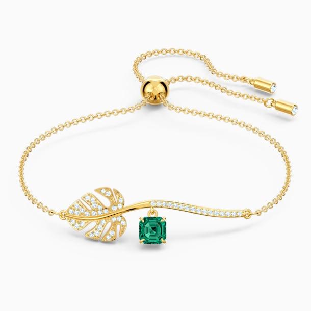 Tropical Bracelet, Green, Gold-tone plated - Swarovski, 5519234