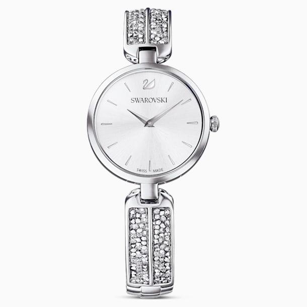 Dream Rock-horloge, Metalen armband, Zilverkleurig, Roestvrij staal - Swarovski, 5519309