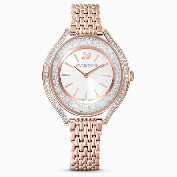 Crystalline Aura Uhr, Metallarmband, roséfarben, rosé vergoldetes PVD-Finish - Swarovski, 5519459