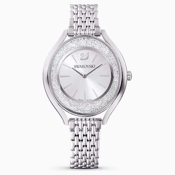 Crystalline Aura Watch, Metal Bracelet, Silver tone, Stainless steel - Swarovski, 5519462