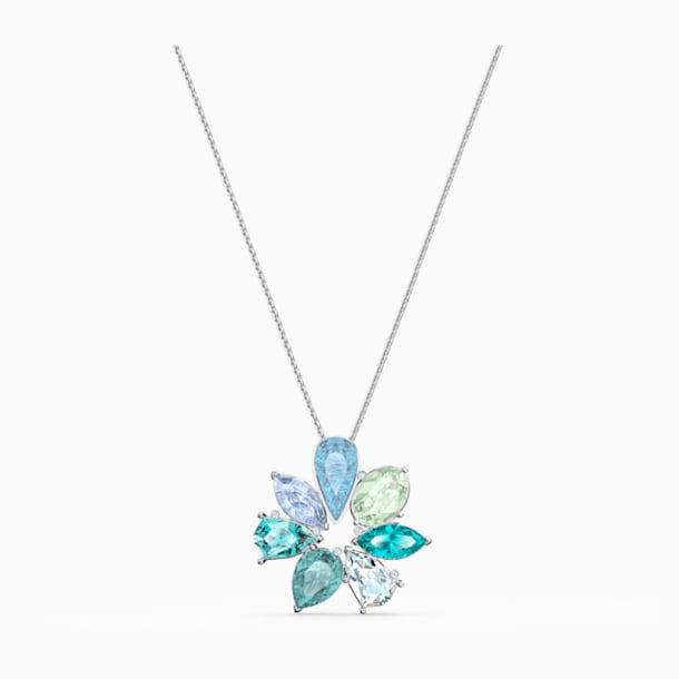 Sunny Flower Pendant, Light multi-colored, Rhodium plated - Swarovski, 5520492