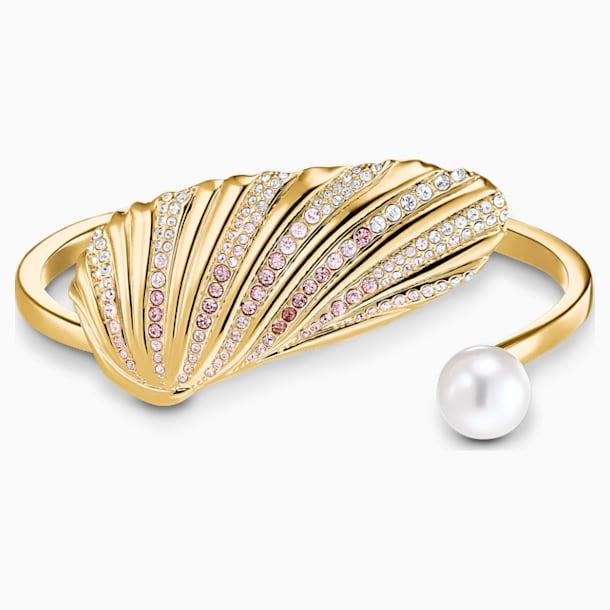 Brazalete Shell, colores claros, baño tono oro - Swarovski, 5520665