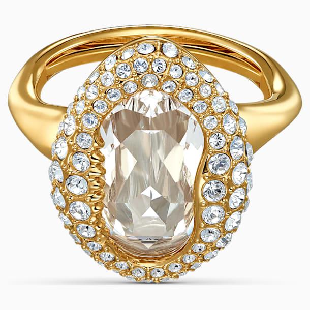 Prsten Shell, bílý, pozlacený - Swarovski, 5520666