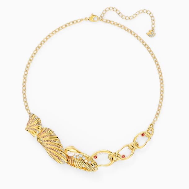 Shell Necklace, Light multi-colored, Gold-tone plated - Swarovski, 5520667