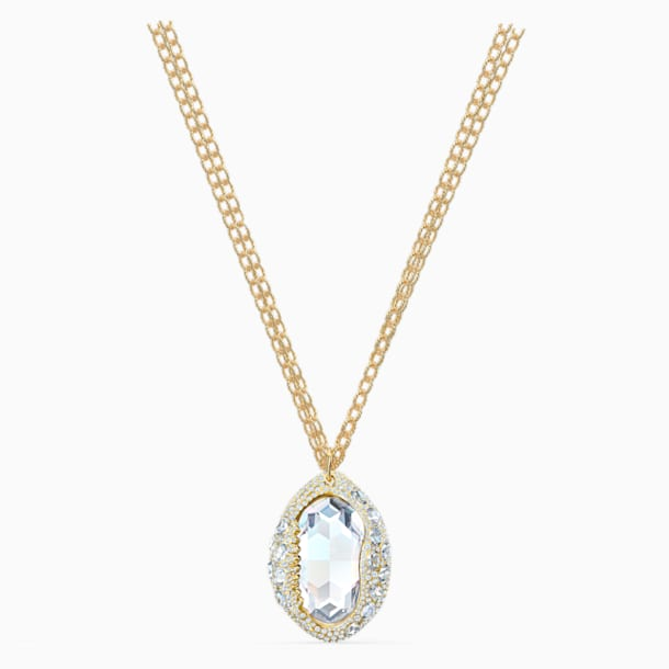 Shell Pendant, White, Gold-tone plated - Swarovski, 5520668