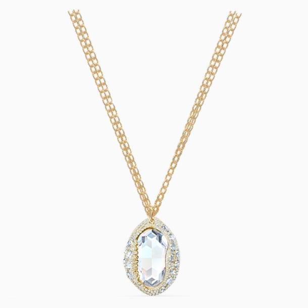 Wisiorek Shell, biały, powłoka w odcieniu złota - Swarovski, 5520668