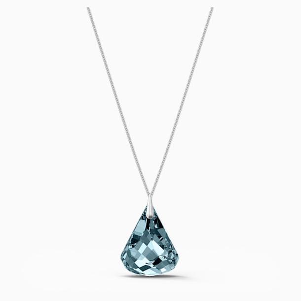 Spirit Necklace, Blue, Rhodium plated - Swarovski, 5521034