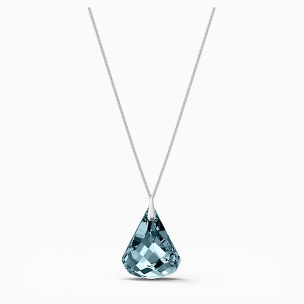 Spirit Necklace, Blue, Rhodium plated - Swarovski, 5521034