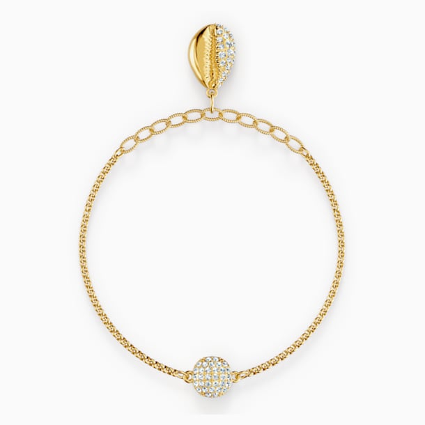 Swarovski Remix Collection Shell Strand, White, Gold-tone plated - Swarovski, 5521347