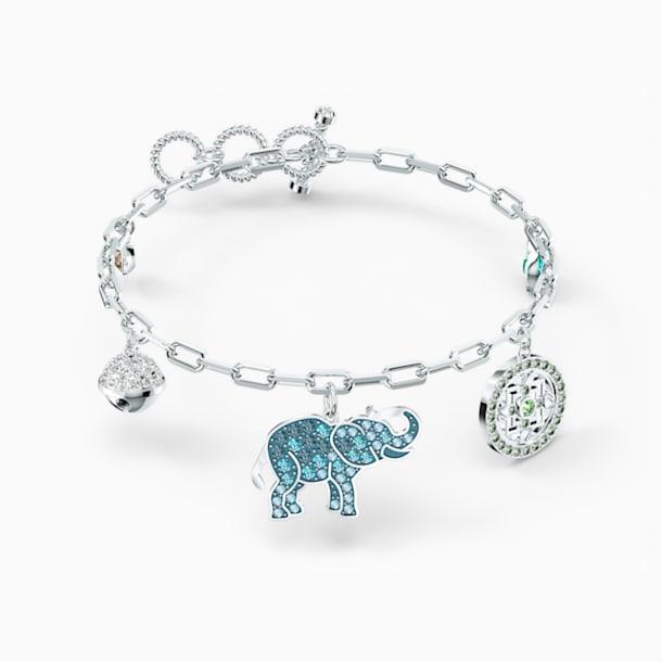 Swarovski Symbolic Elephant Bracelet, Light multi-colored, Rhodium plated - Swarovski, 5521444