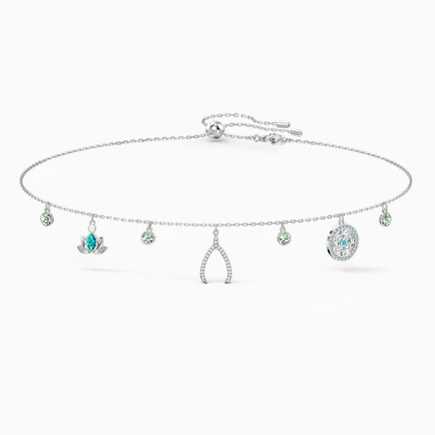 Swarovski Symbolic Charm Necklace, Light multi-colored, Rhodium plated - Swarovski, 5521449