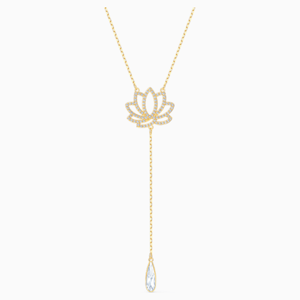 Collier Swarovski Symbolic Lotus, blanc, métal doré - Swarovski, 5521468