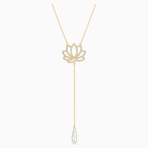 Naszyjnik z symbolem lotosu z kolekcji Swarovski Symbolic, biały, powłoka w odcieniu złota - Swarovski, 5521468