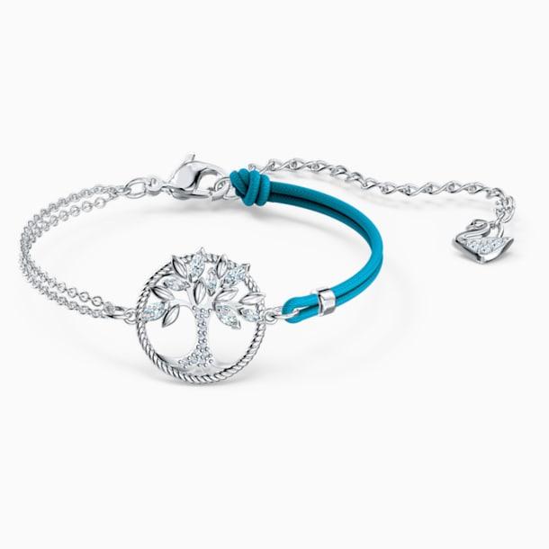 Swarovski Symbolic Tree of Life Bracelet, Blue, Rhodium plated - Swarovski, 5521494