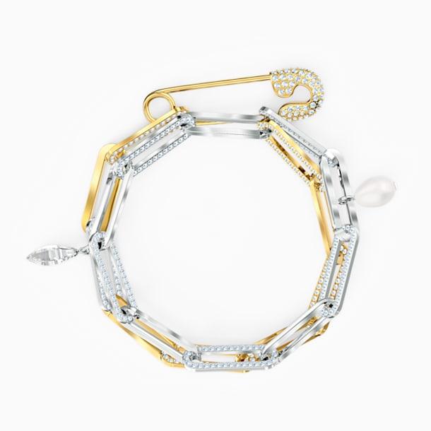 Bransoletka łańcuszkowa So Cool, biała, różnobarwne metale - Swarovski, 5521686