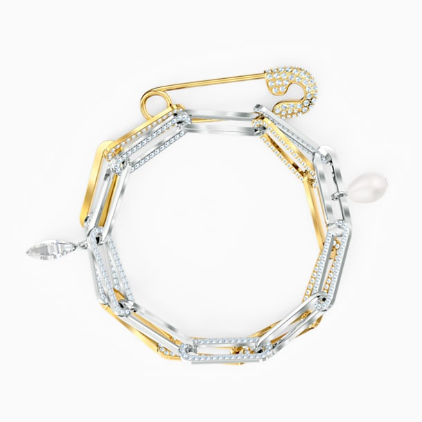 So Cool Chain Bracelet, White, Mixed metal finish - Swarovski, 5521686
