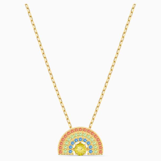 Collar Swarovski Sparkling Dance Rainbow, colores claros, baño tono oro - Swarovski, 5521756
