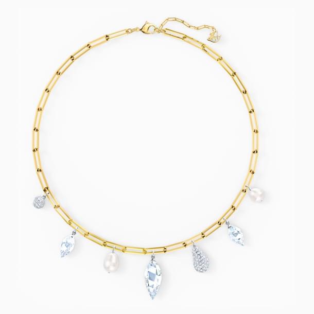 So Cool Charm Necklace, White, Mixed metal finish - Swarovski, 5522860
