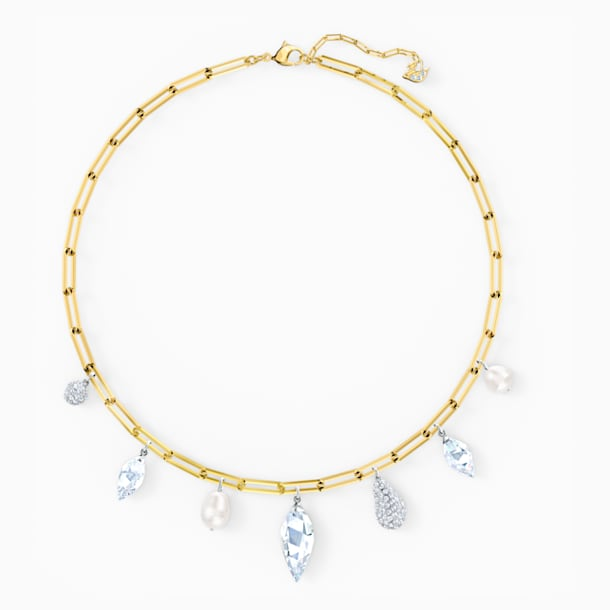 Collier So Cool Charm, blanc, finition mix de métal - Swarovski, 5522860