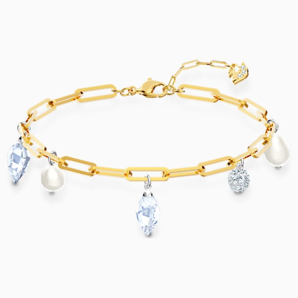 So Cool Charm Bracelet, White, Mixed metal finish - Swarovski, 5522861