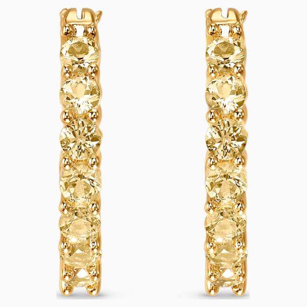 Vittore Hoop Pierced Earrings, Gold tone, Gold-tone plated - Swarovski, 5522880