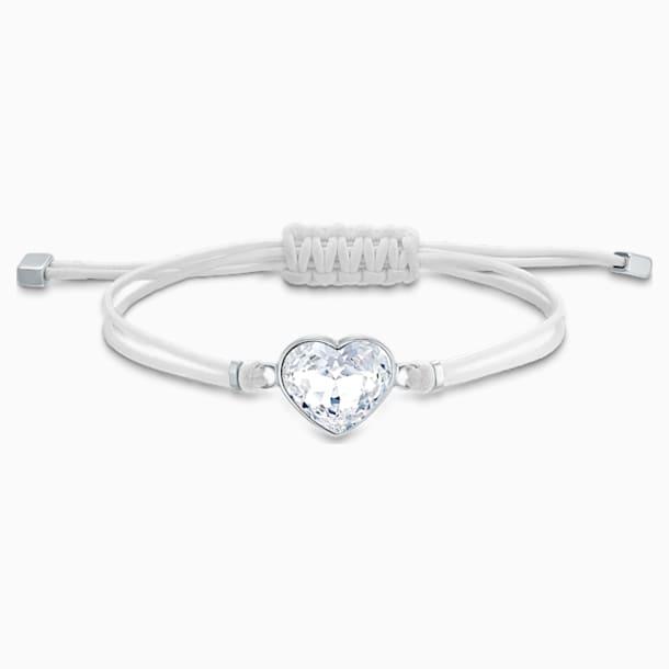 Swarovski Power Collection Heart Браслет, Белый Кристалл, Нержавеющая сталь - Swarovski, 5523696