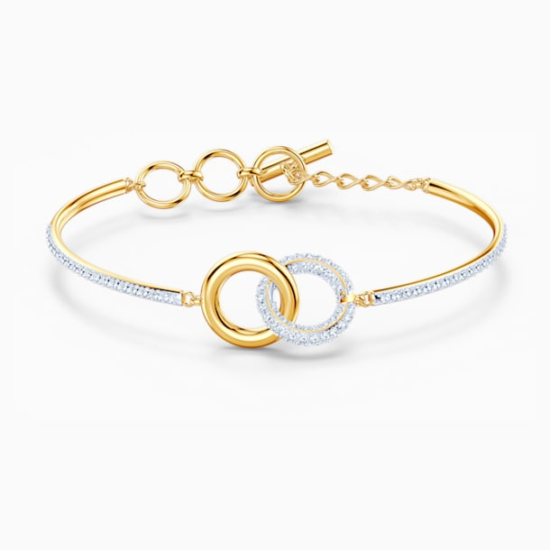 Stone Bangle, White, Mixed metal finish - Swarovski, 5523950