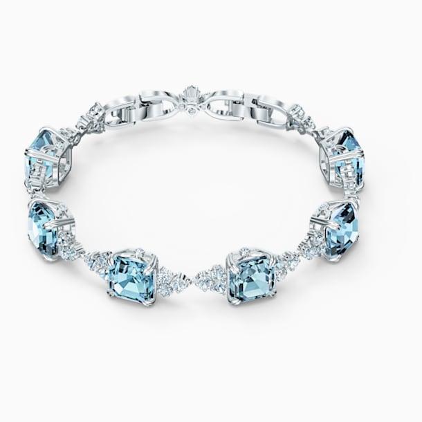 Sparkling Bracelet, Aqua, Rhodium plated - Swarovski, 5524142