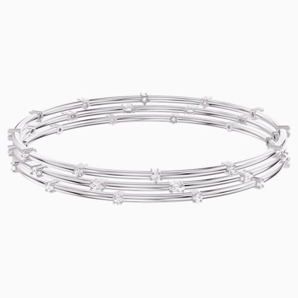 Penélope Cruz Moonsun Cluster Bangle, White, Rhodium plated - Swarovski, 5524267