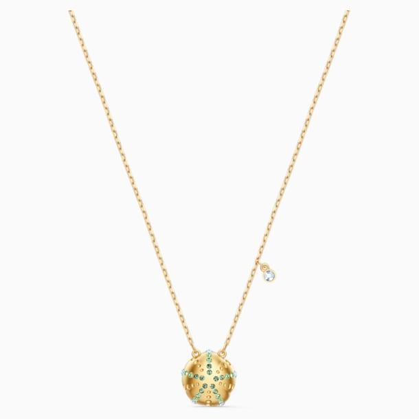 Pendente Shine Urchin, verde, placcato color oro - Swarovski, 5524663