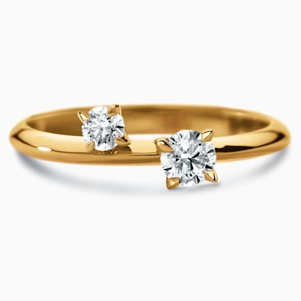 Intimate Delicate Ring, Swarovski Created Diamonds, 18K Yellow Gold, Size 55 - Swarovski, 5524683