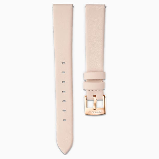 14mm Watch strap, Leather, Light pink, Rose-gold tone PVD - Swarovski, 5526323