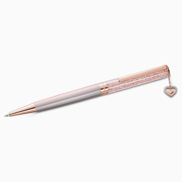 Penna a sfera Crystalline, rosa, placcato color oro rosa - Swarovski, 5527536