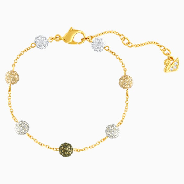 Blow Bracelet, Multi-coloured, Gold-tone plated - Swarovski, 5528202